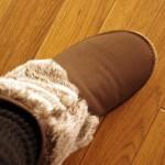 Javariで購入した冷えとり用ショートブーツ
